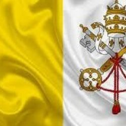 The official flag of the Vatican city