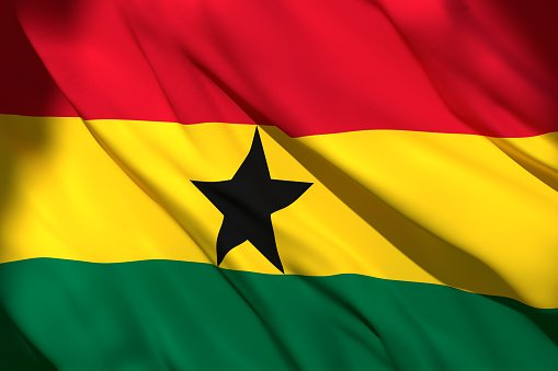 Republic of Ghana Flag