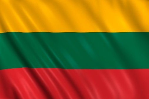 The flag of the Republic of Lithuania