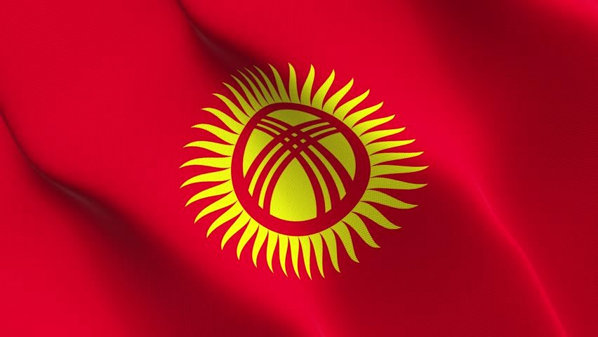 Flag of the Republic of  Kyrgyzstan
