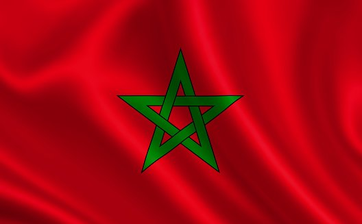 Flag of  the Kingdom of Morocco