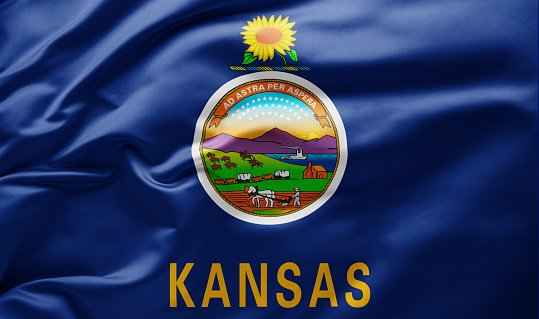 Flag of Kansas state of USA