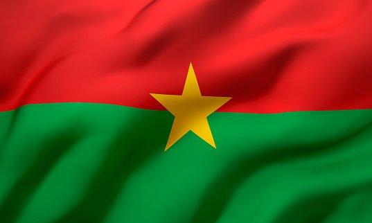 Flag of the nation Burkina Faso