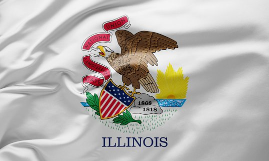 Flag of Illinois State of United State