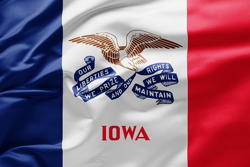 Flag of Iowa state of United States