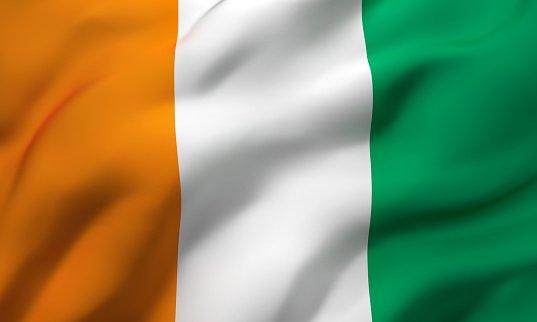 Flag of the Republic of Ivory Coast
