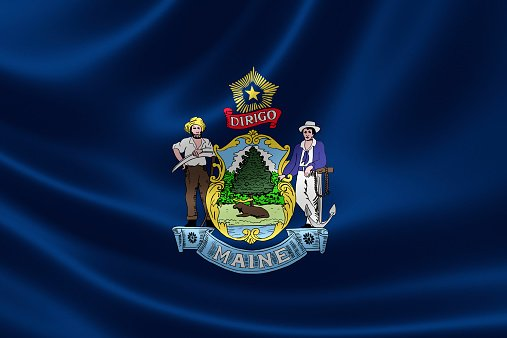 Flag of Maine state of United States