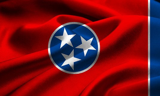 Flag of the Tennessee state