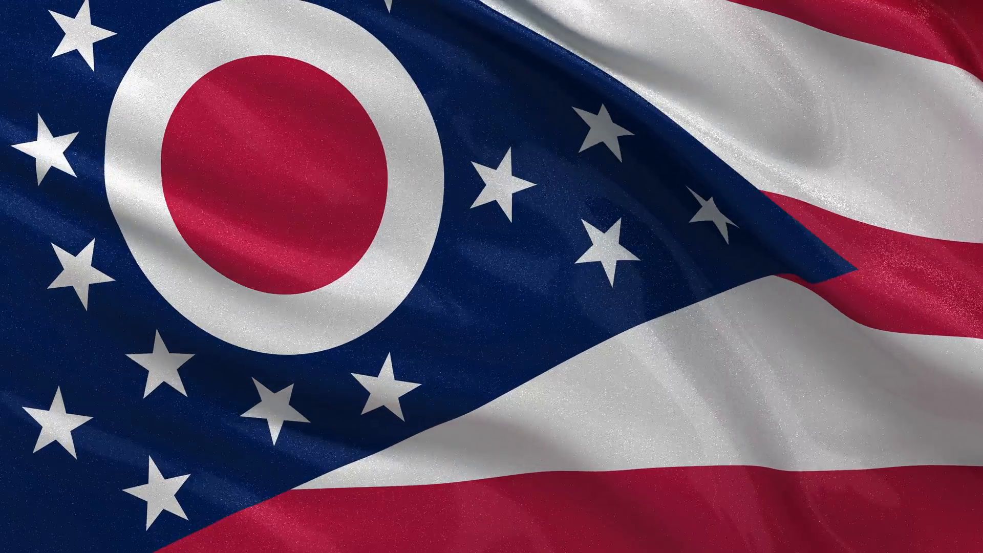The flag of Ohio State