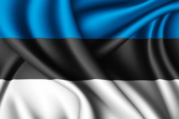 The flag of the Republic of Estonia