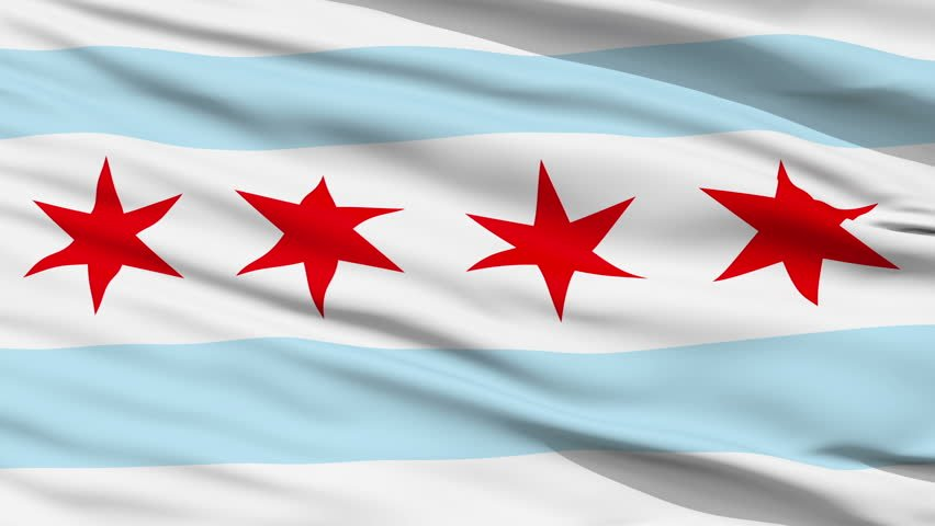 Flag of Chicago city