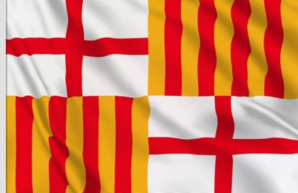 Flag of Barcelona city, Spain