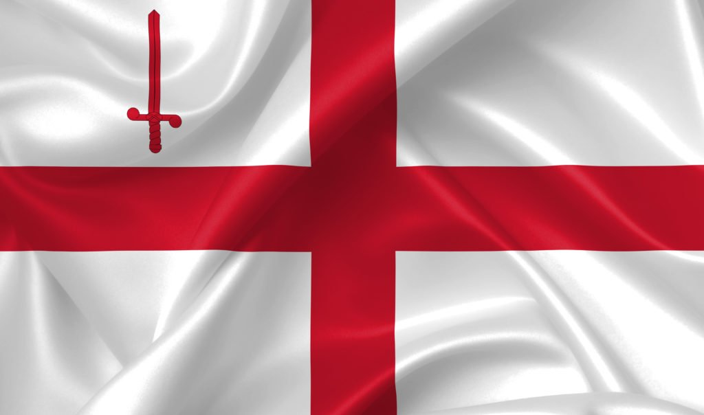 Flag of London city, England