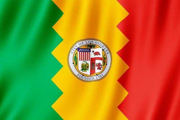 Flag of Los Angeles city, California