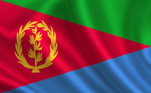 Flag of  the Republic Eritrea
