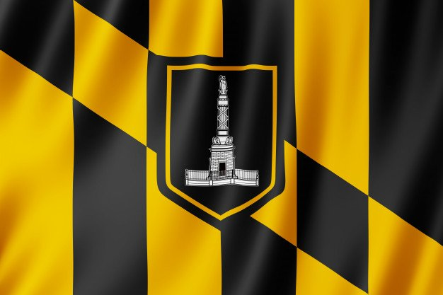 Flag of Baltimore city, Maryland
