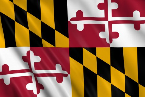 Flag of Maryland state of United States